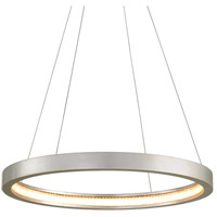 Corbett Lighting 285-41 Jasmine LED 28 inch Silver Leaf Pendant Ceiling Light Circular Frame
