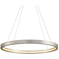 Corbett Lighting 285-43 Jasmine LED 44 inch Silver Leaf Pendant Ceiling Light, Circular Frame photo thumbnail