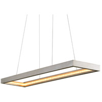 Corbett Lighting 285-51 Jasmine LED 60 inch Silver Leaf Linear Pendant Ceiling Light