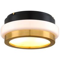 Corbett Lighting 300 32 Beckenham 2 Light 16 Inch Vintage Polished Brass Nickel Flush Mount Ceiling Light