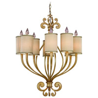 Corbett Lighting Pinot 8 Light Chandelier in Silver Leaf 32-08 photo thumbnail
