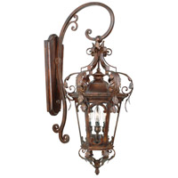 Corbett Lighting Regency 3 Light Outdoor Wall Lantern in Regency Bronze 34-22
