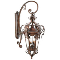 Corbett Lighting Regency 4 Light Outdoor Wall Lantern in Regency Bronze 34-23