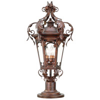 Corbett Lighting Regency 3 Light Outdoor Post Lantern in Regency Bronze 34-82