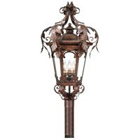 Regency 4 Light 35 inch Regency Bronze Outdoor Post Lantern