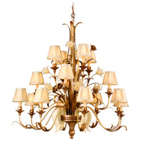 Corbett Lighting 49-016 Tivoli 16 Light 46 inch Tivoli Silver Chandelier Ceiling Light