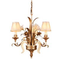 Corbett Lighting Tivoli 3 Light Chandelier in Tivoli Silver 49-03