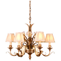 Corbett Lighting Tivoli 6 Light Chandelier in Tivoli Silver 49-06