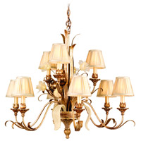 Corbett Lighting Tivoli 9 Light Chandelier in Tivoli Silver 49-09