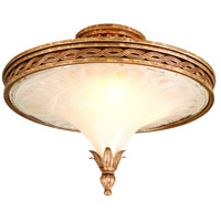Tivoli 3 Light 20 inch Tivoli Silver Semi-Flush Ceiling Light
