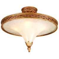 Tivoli 4 Light 24 inch Tivoli Silver Semi-Flush Ceiling Light