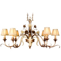 Corbett Lighting 49-53 Tivoli 6 Light 47 inch Tivoli Silver Island Light Ceiling Light