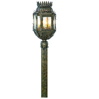 Corbett Lighting Montrachet 4 Light Outdoor Post Lantern in Montrachet Bronze 59-82