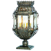 Corbett Lighting Montrachet 4 Light Outdoor Post Lantern in Montrachet Bronze 59-83