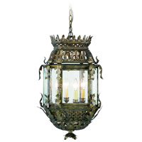 Corbett Lighting Montrachet 4 Light Outdoor Hanging Lantern in Montrachet Bronze 59-92