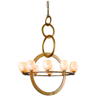 Corbett Lighting Cirque 10 Light Chandelier in Champagne Leaf 62-010