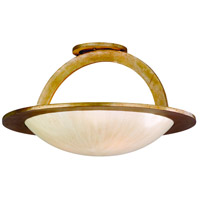 Corbett Lighting Cirque 3 Light Semi-Flush in Champagne Leaf 62-33