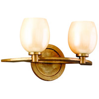 Corbett Lighting Cirque 2 Light Bath in Champagne Leaf 62-62