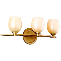 Corbett Lighting 62-63 Cirque 3 Light 24 inch Champagne Leaf Bath Wall Light photo thumbnail