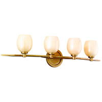 Corbett Lighting Cirque 4 Light Bath in Champagne Leaf 62-64