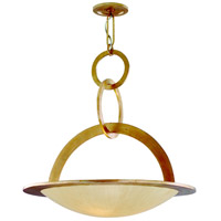 Cirque 5 Light 34 inch Champagne Leaf Inverted Pendant Ceiling Light