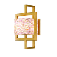 Corbett Moderne 1 Light Wall Sconce In Champagne Leaf 65-11