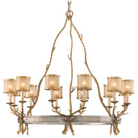 Parc Royale 12 Light 41 inch Gold And Silver Leaf Chandelier Ceiling Light