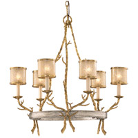 Parc Royale 6 Light 29 inch Gold And Silver Leaf Chandelier Ceiling Light