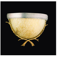 Parc Royale 1 Light 9 inch Gold And Silver Leaf Wall Sconce Wall Light