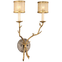 Parc Royale 2 Light 14 inch Gold And Silver Leaf Wall Sconce Wall Light