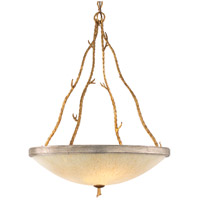 Parc Royale 5 Light 30 inch Gold And Silver Leaf Pendant Ceiling Light
