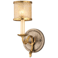Parc Royale 1 Light 4 inch Gold And Silver Leaf Bath Wall Light