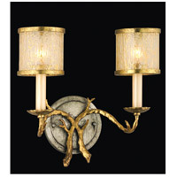 Parc Royale 2 Light 13 inch Gold And Silver Leaf Bath Wall Light