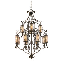 Corbett Lighting St. Moritz 12 Light Chandelier in Moritz Bronze 67-012