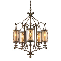 Corbett Lighting St. Moritz 5 Light Chandelier in Moritz Bronze 67-05