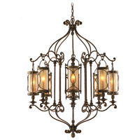 Corbett Lighting St. Moritz 8 Light Chandelier in Moritz Bronze 67-08