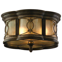St. Moritz 3 Light 16 inch Moritz Bronze Flush Mount Ceiling Light