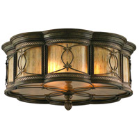 Corbett Lighting St. Moritz 3 Light Flush Mount in Moritz Bronze 67-34