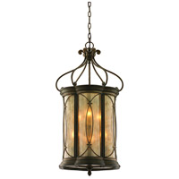 Corbett Lighting St. Moritz 6 Light Entry Chandelier in Moritz Bronze 67-46