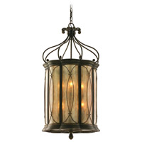Corbett Lighting St. Moritz 8 Light Entry Chandelier in Moritz Bronze 67-48