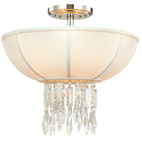 Corbett Lighting Cascade 3 Light Semi-Flush in Polished Chrome 70-33
