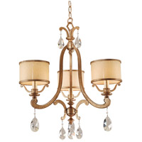 Corbett Lighting Roma 3 Light Chandelier in Antique Roman Silver 71-03