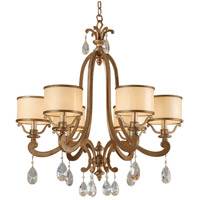 Roma 6 Light 28 inch Antique Roman Silver Chandelier Ceiling Light