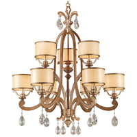 Corbett Lighting Roma 9 Light Chandelier in Antique Roman Silver 71-09