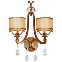 Corbett Lighting Roma 2 Light Wall Sconce in Antique Roman Silver 71-12