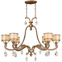 Corbett Lighting Roma 6 Light Island Light in Antique Roman Silver 71-56