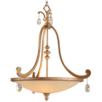 Corbett Lighting Roma 4 Light Inverted Pendant in Antique Roman Silver 71-74