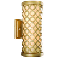 Corbett Lighting Bangle 1 Light Outdoor Wall Lantern Fluorescent in Silver Leaf with Antique Mist 72-21-F