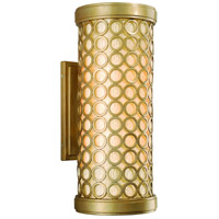 Corbett Lighting Bangle 2 Light Outdoor Wall Lantern Fluorescent in Silver Leaf with Antique Mist 72-22-F