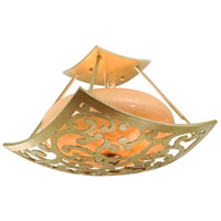 Philippe 3 Light 16 inch Parisian Semi-Flush Ceiling Light